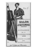 Front Cover Illustration of the Catalogue for the 6th Salon D'Automne at the Grand Palais, Paris Giclee Print by  French School