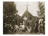 Father Thomas H. Mooney Leading Sunday Mass, 69th New York Infantry Regiment, 1861 Giclee Print by Mathew Brady