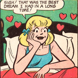 Archie Comics Retro: Betty Comic Panel; Best Dream (Aged) Print