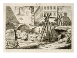 The Device Invented by Nicola Zabaglia in 1748 for Lifting the Obelisk in the Campus Martius Giclee Print by G. Balzar
