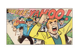 Archie Comics Retro: Archie Comic Panel; Archie, Dilton and Gang (Aged) Giclee Print