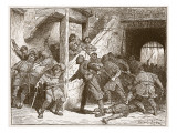 The Riot at Dover, Illustration from 'Cassell's Illustrated History of England' Giclee Print by Edouard Zier