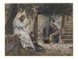 Mary Magdalene at the Feet of Jesus, Illustration from 'The Life of Our Lord Jesus Christ', 1886-94 Premium Giclee Print by James Tissot