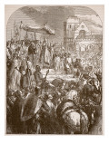 Pope Urban Ii Preaching the First Crusade in the Marketplace of Clermont, 1096 Giclee Print by  English School