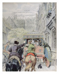 Assassination of Henri Iv by Francois Ravaillac in the Rue De La Ferronerie on 14th May 1610 Giclee Print by Maurice Leloir