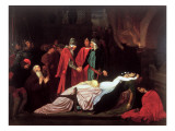 The Reconciliation of the Montagues and the Capulets over the Dead Bodies of Romeo and Juliet Giclée-Druck von Frederick Leighton