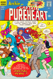 Archie Comics Retro: Captain Pureheart Comic Book Cover No.6 (Aged) Posters