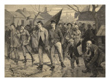 General Strike in Belgium-Miners' March in the Hainut, from 'Le Petit Parisien', 17th May 1891 Giclee Print by Beltrand and Clair-Guyot, E. Dete