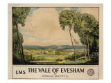The Vale of Evesham, Poster Advertising London, Midland and Scottish Railway Giclee Print by Donald Maxwell