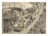 Funfair Accident in the Russian Mountains, Saint-Cloud, from 'Le Petit Parisien', 26th July 1891 Giclee Print by Beltrand and Clair-Guyot, E. Dete