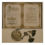 Prince Diploma for the Chancellor of the North German Confederation and the Minister-President Giclee Print by  German School