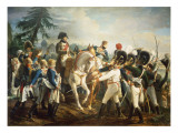 Napoleon and the Bavarian and Wurttemberg Troops in Abensberg, 20th April 1809 Giclee Print by Jean Baptiste Debret