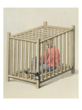 A Malefactor in a Cage, Plate 15 from 'The Punishments of China', Engraved by J. Dadley, 1804 Giclee Print by Major George Henry Mason