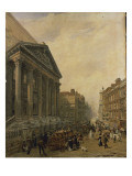 The Mansion House from Poultry Looking Down Cheapside Towards St. Mary-Le-Bow Giclee Print by Frederick Nash