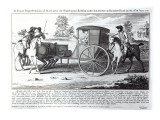 An Exact Representation of Maclaine the Highwayman Robbing Lord Eglington on Hounslow Heath Giclee Print by  English School