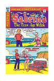 Archie Comics Retro: Sabrina The Teenage Witch Comic Book Cover No.70 (Aged) Prints
