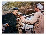 Mao Zedong Talking to Veterans of the 'Long March' at Yangchailing, Yenan, in 1937 Giclee Print by Chinese Photographer