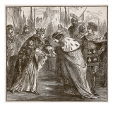 Edward Receiving King John of France, Illustration from &#39;Cassell&#39;s Illustrated History of England&#39; Giclee Print by English School 