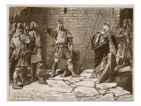 Surrender of Bamborough Castle, Illustration from 'Cassell's Illustrated History of England' Giclee Print by Edouard Zier