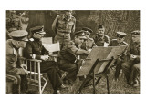 Lieutenant General Dempsey, Commander of the British Second Army, Explains to Soviet Officers Giclee Print by  English Photographer