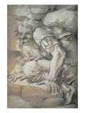 Giant, Sketch for the Fresco of the Fall of the Giants, Palazzo Del Te, Mantua, 1531/32 Giclee Print by Romano