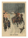 Christmas in Poland, Illustration from 'Le Petit Journal', Supplement Illustre, 24th December 1911 Impressão giclée por French School