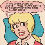 Archie Comics Retro: Betty Comic Panel; Greatest Thing Since Sliced Bread (Aged) Photo