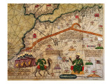 Detail of Copy of a Catalan Map of Europe and North Africa, Presented to Charles V of France Premium Giclee Print by Abraham Cresques