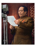 Chairman Mao Zedong Proclaiming the Founding of the People&#39;s Republic of China Giclee Print by Chinese Photographer 