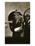 Plutarco Elias Calles Being Sent into Exile in the United States by Lazaro Cardenas, 9th April 1936 Premium Giclee Print