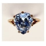 Antique Fancy-Cut Ring, the Blue-Grey Diamond Weighing 5.45 Carats, Once Owned by Marie-Antoinette Giclee Print