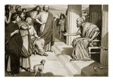 Socrates Addressing the Athenians, Illustration from 'Hutchinson's History of the Nations', 1915 Premium Giclee Print by Dudley Heath