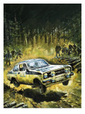 70 Stages to Success, the Story of Britain's Toughest Motor Rally, 1981 Giclee Print by Graham Coton