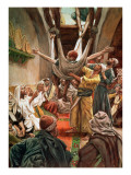 The Palsied Man Let Down Through the Roof, Illustration for 'The Life of Christ', C.1886-94 Giclee Print by James Jacques Joseph Tissot