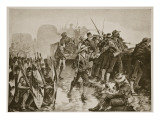 The Zulu War: Defending a Laager Against a Zulu Attack Giclee Print by William Heysham Overend