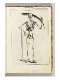 A Skeleton Holding a Scythe in the Style of a Grim Reaper Giclée-tryk af Italian School