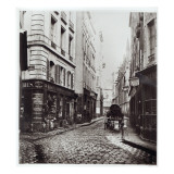 Rue Saint-Severin, from the Rue De La Harpe, Paris, 1858-78 Giclee Print by Charles Marville