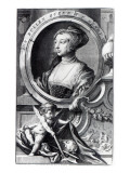 Anne Boleyn, Engraved by Jacobus Houbraken, 1738 Reproduction procédé giclée par Hans Holbein the Younger