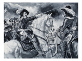 Battle Scene Depicting Royalists Led by Charles I Giclee Print by Paul Rainer