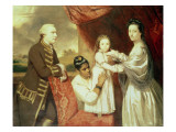 George Clive and His Family with an Indian Maid, 1765 Reproduction procédé giclée par Sir Joshua Reynolds