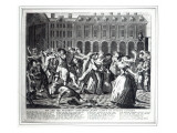 He and His Drunken Companions Raise a Riot in Covent Garden Giclee Print by  English School