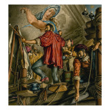 Michelangelo Buonarrotti Painting the Sistine Chapel Giclee Print by Jack Hayes