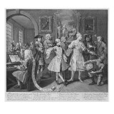 The Rake's Levee, Plate Ii, from 'A Rake's Progress', 1735 Giclee Print by William Hogarth