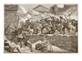 The Gross of the Bulgarian Column Made a Dashing Assault Upon the Town Giclee Print by Richard Caton Woodville