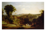 Villa of Lucullus at Misenum in the Bay of Naples Giclee Print by William Leighton Leitch