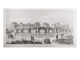 The Royal Jubilee Exhibition, Newcastle-On-Tyne: the Old Tyne Bridge Giclee Print by  English School