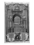 The Monument of Mary Queen of Scots in Westminster Abbey Giclee Print by Hubert Gravelot