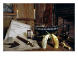 Objects from a Nineteenth Century Captain's Desk Premium Giclee Print by  American School
