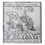 The Magellan Fleet on its Way to the South Sea after Crossing the Strait, 1726 Giclee Print by  Spanish School