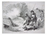 The Death of Isaac Davis at Concord Bridge, 19 April 1775 Giclee Print by  American School